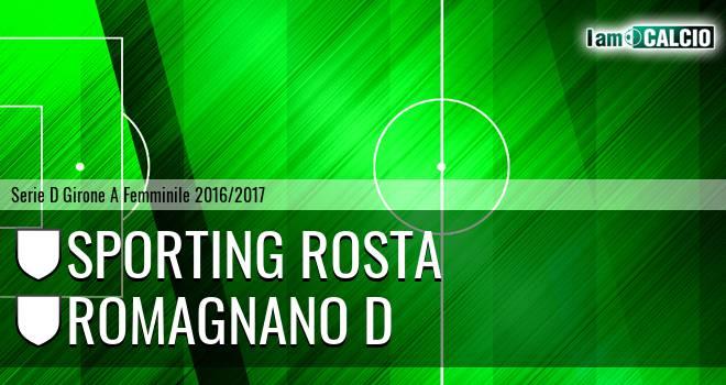 Sporting Rosta - Romagnano D