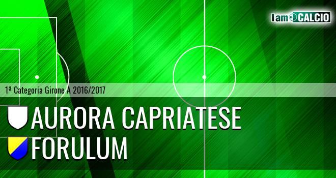 Aurora Capriatese - Forulum