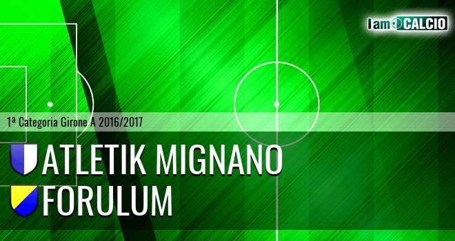 Atletik Mignano - Forulum