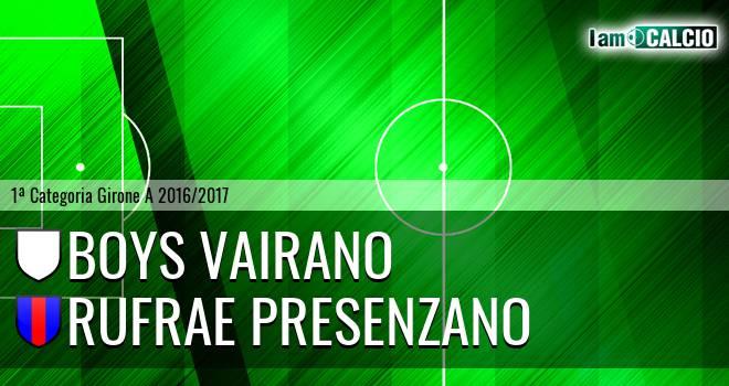 Boys Vairano - Rufrae Presenzano