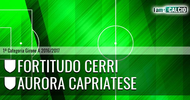Fortitudo Cerri - Aurora Capriatese