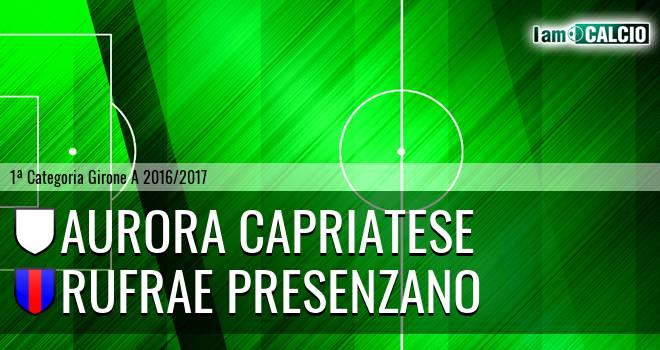 Aurora Capriatese - Rufrae Presenzano