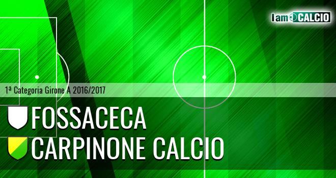 Fossaceca - Carpinone Calcio