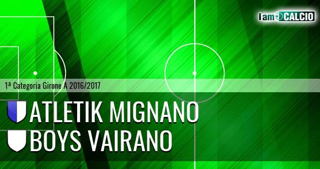 Atletik Mignano - Boys Vairano