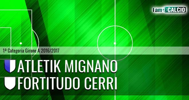 Atletik Mignano - Fortitudo Cerri