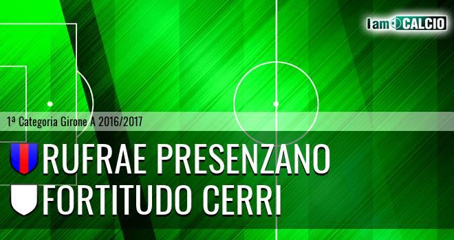 Rufrae Presenzano - Fortitudo Cerri
