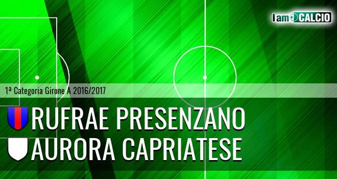 Rufrae Presenzano - Aurora Capriatese