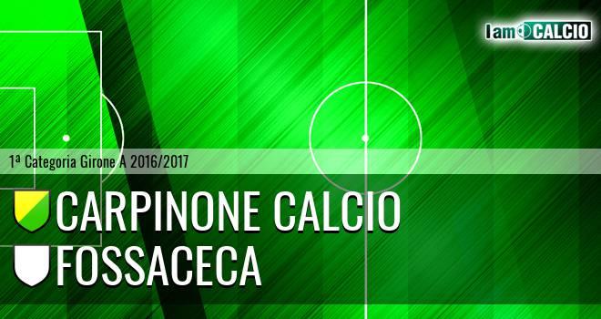 Carpinone Calcio - Fossaceca