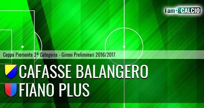 Cafasse Balangero - Fiano Plus