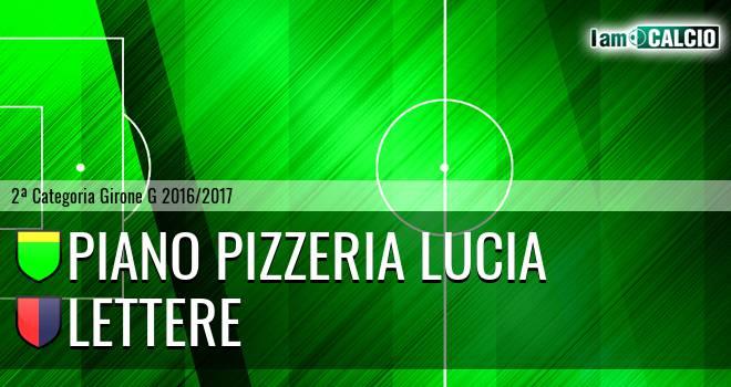Piano Pizzeria Lucia - Lettere