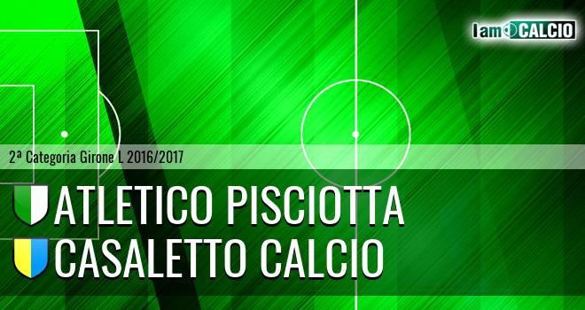 Atletico Pisciotta - Casaletto Calcio