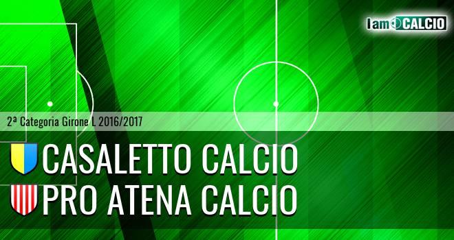 Casaletto Calcio - Pro Atena Calcio