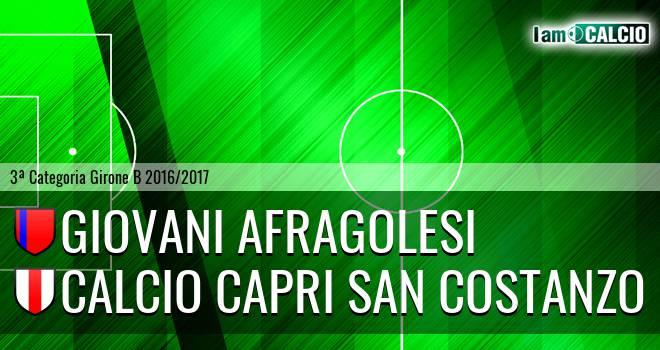 Giovani Afragolesi - Calcio Capri San Costanzo