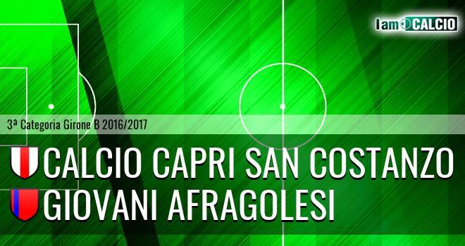 Calcio Capri San Costanzo - Giovani Afragolesi