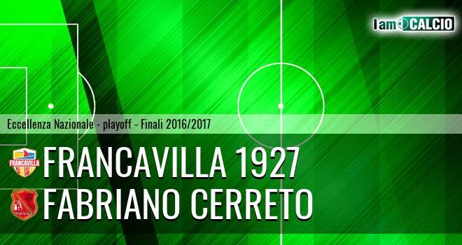 Francavilla 1927 - Fabriano Cerreto