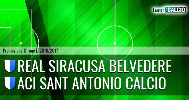 Real Siracusa Belvedere - Aci Sant Antonio Calcio