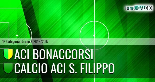Aci Bonaccorsi - Calcio Aci S. Filippo
