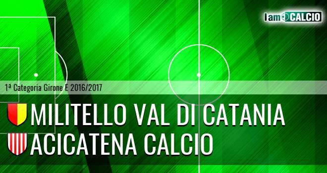 Militello Val di Catania - Acicatena Calcio