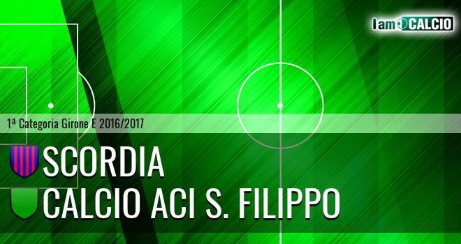 Scordia - Calcio Aci S. Filippo