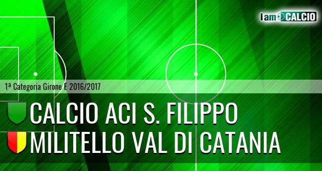 Calcio Aci S. Filippo - Militello Val di Catania