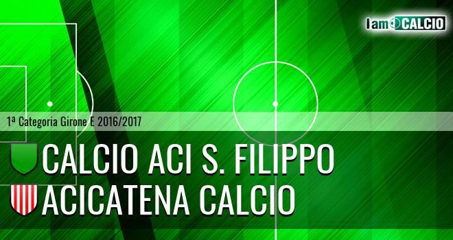 Calcio Aci S. Filippo - Acicatena Calcio