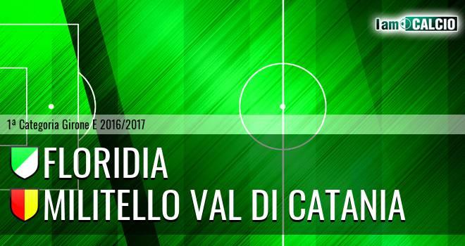 Floridia Calcio - Militello Val di Catania