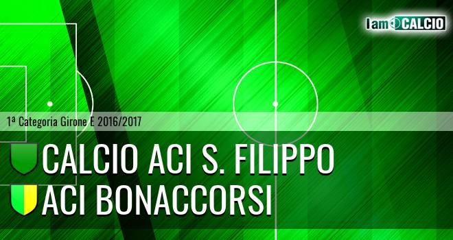 Calcio Aci S. Filippo - Aci Bonaccorsi