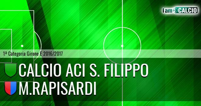 Calcio Aci S. Filippo - M.Rapisardi