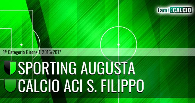 Sporting Augusta - Calcio Aci S. Filippo
