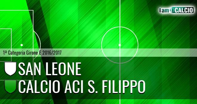 San Leone - Calcio Aci S. Filippo