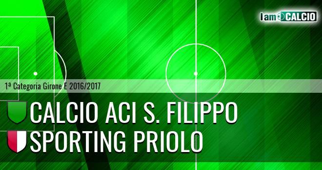Calcio Aci S. Filippo - Climiti FC San Paolo Priolo