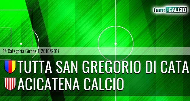 Tutta San Gregorio di Catania - Acicatena Calcio