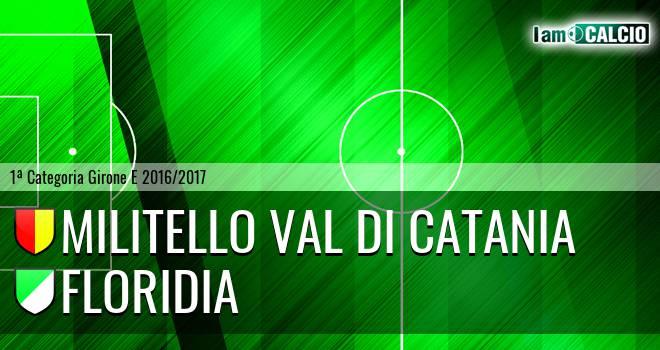 Militello Val di Catania - Floridia Calcio