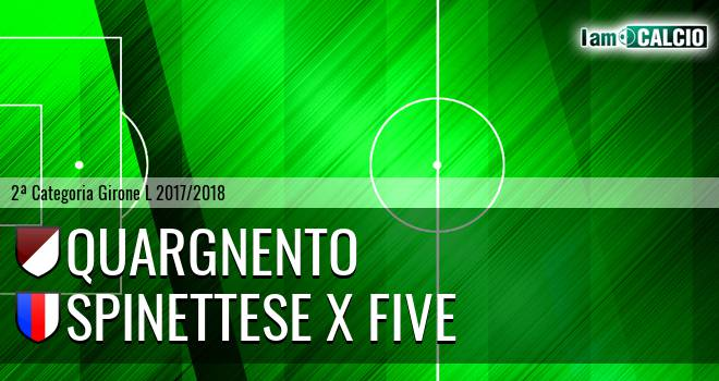 Quargnento - Spinettese X Five