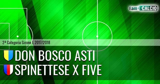Don Bosco Asti - Spinettese X Five