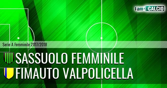 Sassuolo Femminile - Fimauto Valpolicella