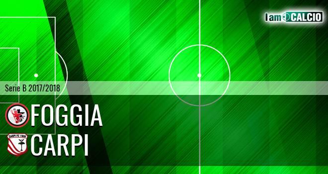 Foggia - Carpi 3-0. Cronaca Diretta 17/02/2018