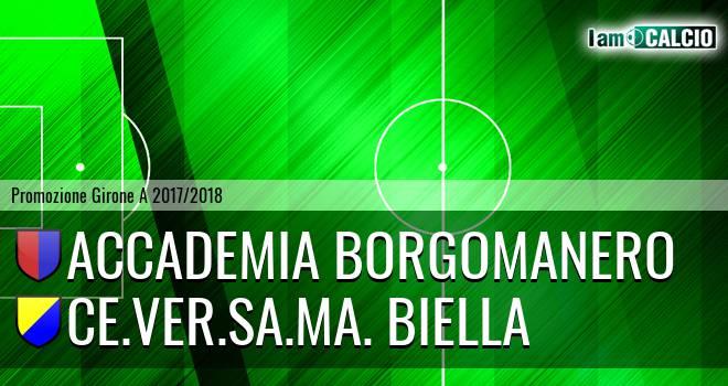 Accademia Borgomanero - Ce.Ver.Sa.Ma. Biella 7-0. Cronaca Diretta 11/02/2018