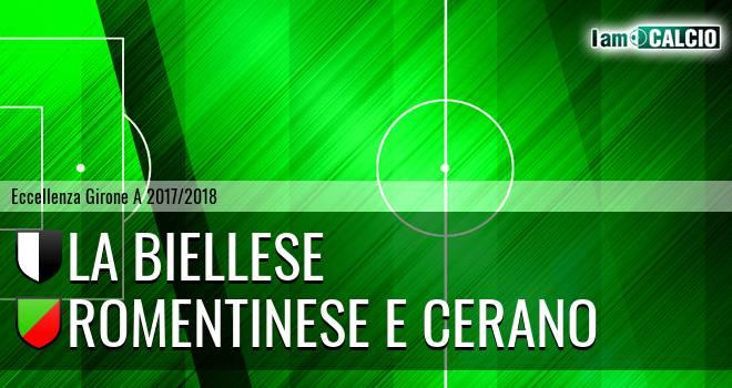 La Biellese - Romentinese e Cerano 1-1. Cronaca Diretta 31/03/2018