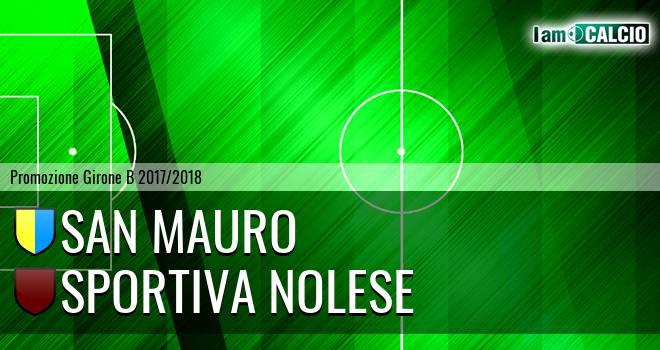 San Mauro - Sportiva Nolese