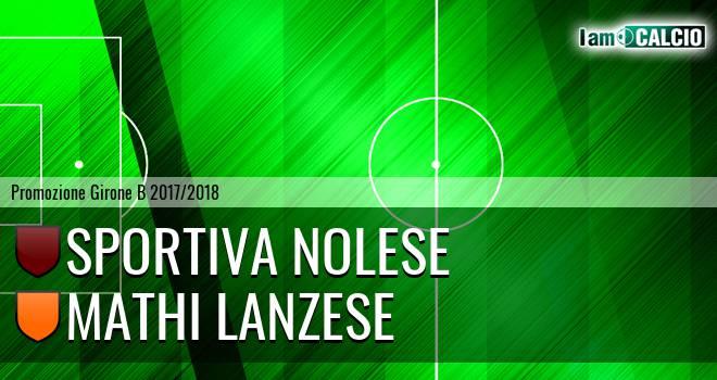 Sportiva Nolese - Mathi Lanzese