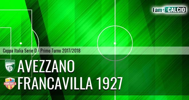 Avezzano - Francavilla 1927