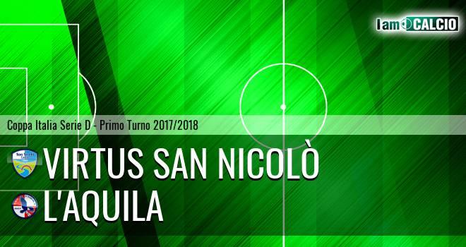 Virtus San Nicolò Teramo - L'Aquila