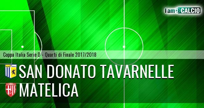 San Donato Tavarnelle - Matelica 4-3. Cronaca Diretta 09/03/2018