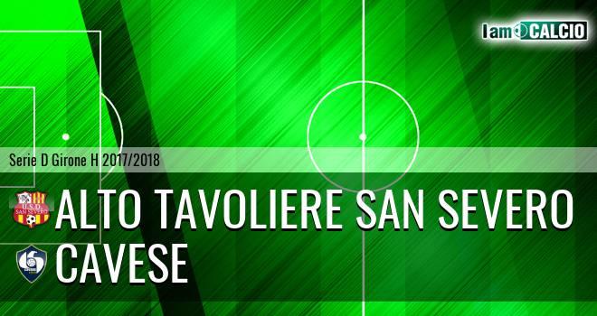 Alto Tavoliere San Severo - Cavese 1-4. Cronaca Diretta 18/02/2018
