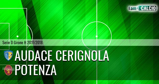 Audace Cerignola - Potenza 1-1. Cronaca Diretta 18/02/2018