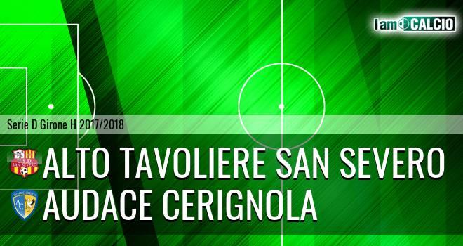 Alto Tavoliere San Severo - Audace Cerignola 0-0. Cronaca Diretta 08/04/2018