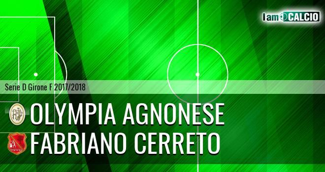 Olympia Agnonese - Fabriano Cerreto