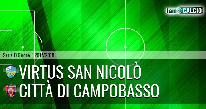 Virtus San Nicolò - Città di Campobasso 2-4. Cronaca Diretta 17/02/2018