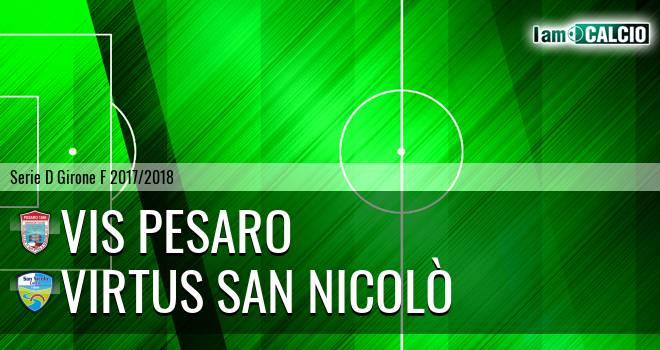 Vis Pesaro - Virtus San Nicolò Teramo
